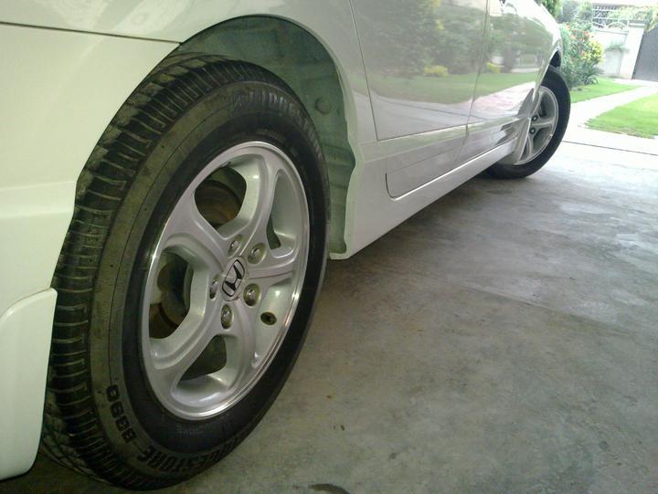 "Original civic 15"" Rims+Tyres For Sale.. - 49498attach"