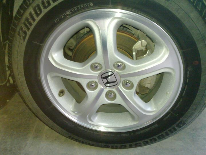 "Original civic 15"" Rims+Tyres For Sale.. - 49500attach"